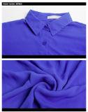 Chemise bon marché en gros personnalisée de mousseline de soie de mode