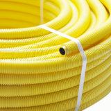Tubulação de gás ondulada amarela do PE-Al-PE com tamanho 16mm 32mm
