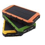 Banco impermeável esperto da potência 6000mAh solar com saída dupla do USB
