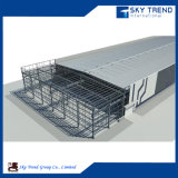 Projet de construction rapide de structure métallique d'industrie du bâtiment