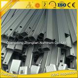 工場供給は形アルミニウム6063 T6管によって陽極酸化されたアルミニウムプロフィールの切断をカスタマイズした