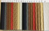 靴のための多彩な正方形パターンPUの総合的な革、衣服、家具、装飾(HS-Y32)