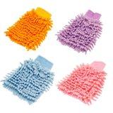 Перчатка чистки автомобиля Microfiber микро- перчатки Two-Sided (YYCG010)
