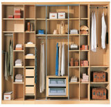 China Customer Made Melamine MDF-Schlafzimmer Wardrobe mit Groove Sliding Door