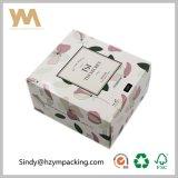 rectángulo de papel blanco del rectángulo de regalo del rectángulo del conjunto de la cartulina 300GSM para los cosméticos