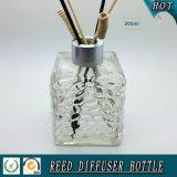 Würfel GlasreedDuffuser Flasche des Wasser-200ml mit silberner Mattschutzkappe