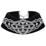 Ювелирные изделия ожерелья чокеровщика диаманта Rhinestone конструктора бархата сбор винограда способа