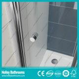 Porte se pliante en aluminium de Pivor de douche avec le verre feuilleté Tempered (SE920C)