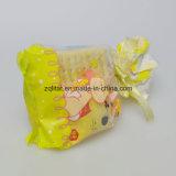 la bolsa de plástico lateral polivinílica transparente del escudete del bolso/BOPP del LDPE de 0.04m m con la impresión