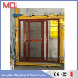Aluminium, das ausgeglichenes Glas-Tür schiebt