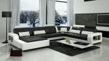 Sofa en cuir italien moderne européen avec le coin (HC1080)