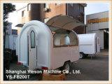 Remorque mobile de nourriture de nourriture de Ys-Fb200t de camion de chariot blanc de hot-dog