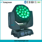 LED 19pcsx15W Big Bee Eye Moving Head Light com Zoom