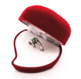 Caisse d'emballage de luxe de bijou de papier de forme de coeur