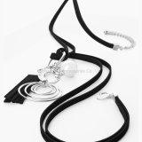 女性の長いネックレスの高品質の合金の革カラーふさのネックレスのペンダントAccessroies