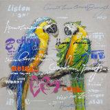 Peinture animale acrylique abstraite sur toile