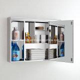 金属の磨かれた壁ミラーの常備薬戸棚の容器