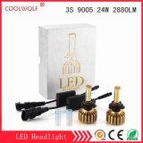 경쟁가격을%s 가진 공장 직매 3s 9005 24W 2880lm LED 차 LED 헤드라이트 전구 Headlamp