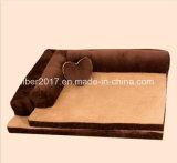 Bases luxuosas do sofá do cão dos produtos do animal de estimação da tela da camurça da base do animal de estimação grandes com descanso