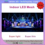 P10 transparentes LED Innenineinandergreifen für Stadiums-Hintergrund (LED-Vorhang)