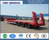 Cimc Fuwa 3개의 차축 편평한 반 Lowbed 트럭 트레일러 80 톤