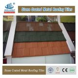 Azulejo de azotea revestido del metal de la azotea de la decoración de construcción de la piedra barata del material