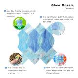 Mosaïque en mosaïque de vitrail bleu à haute gravure pour décoration intérieure