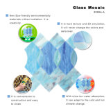 Ozean-Seeblaue Perle rundes Backsplash Glasmosaik-Fliese-Blatt