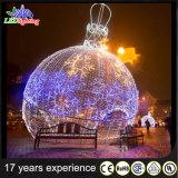 Bille extérieure de géant de la lumière DEL de décoration de vacances de Noël de pente commerciale