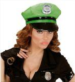 조정가능한 기장 성숙한 복장에 네온 녹색 경찰 모자 모자 남자 순경 모자