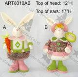 """"""" conejito de H 17 con la zanahoria y Sign-2asst. - Decoración de Pascua"""
