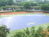 Azulejos de suelo olímpicos de la corte de balonmano del estadio de la calificación, suelo de la corte de balonmano de Trainning
