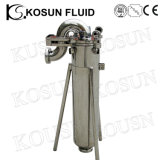 Boîtier de crépine lenticulaire sanitaire élevé de cartouche de tirant d'eau d'acier inoxydable (sac)