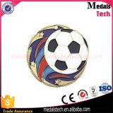 청동은 금속 연약한 사기질 축구 포상 메달의 둘레에 도금했다