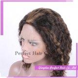 브라질 Ombre 긴 실제적인 머리 인간 가발