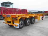 Semi-Trailer esqueletal do recipiente de 3axle 40ton 40FT