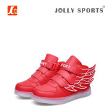 L'éclairage LED de charge de mode de chaussures folâtre des chaussures pour des gosses de filles de garçons
