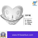 Tazón de fuente de cristal en la cristalería transparente Kb-Hn0167 de la alta calidad