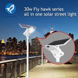 Réverbère solaire Integrated diplômée par IP65 de lampe de détecteur de mouvement avec le panneau solaire