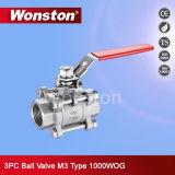 Kugelventil der Qualitäts-3PC mit Verschluss-Licht-Typen 1000wog