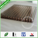Folha plástica da cavidade da Triplo-Parede do policarbonato do material de construção da folha da telhadura