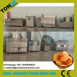 microplaquetas de batata 30/50/100/200kg/H onduladas fritadas Semi automáticas que fazem a máquina