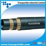 Boyau hydraulique en caoutchouc tressé de fil d'acier de SAE 100 R2at