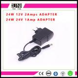 adaptateur de 12W DEL, adaptateur de DC24V 500mA, 12W adaptateur, chargeur du mur 12V, adaptateur d'alimentation d'AC/DC DEL