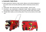 Портативный Crawler робота трубы для осмотра трубопровода индустрии с кабелем 100m испытывая