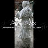 Sculpture de marbre blanche Main-Découpée de Carrare pour la décoration à la maison Ms-619