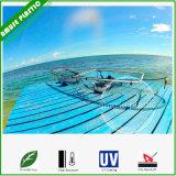 Auf transparenten Polycarbonte Kajaks sitzen sehen durch freie untere Kanus