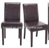 PU Leather Dining Chairs High Back Set