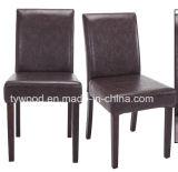 椅子の最高背部セットを食事するPUの革
