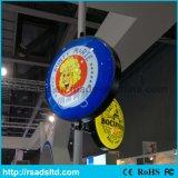 Plástico comercial do diodo emissor de luz do círculo que dá forma à caixa leve